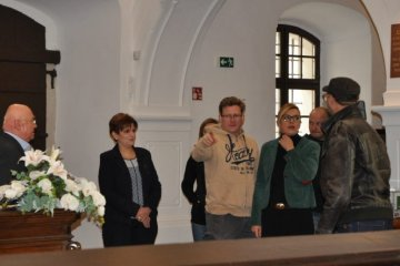 Borbás Marcsi a Pannonia Reformata Múzeumban